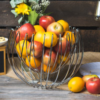 Clipper Mill by GET WBHANG-13 13 inch Chrome Plated Iron Suspended Wire Basket