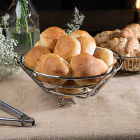 Clipper Mill by GET WB-710 10 inch Chrome Plated Iron Round Basket