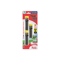 Pentel C29BPHB3 Black 0.9mm HB Super Hi-Polymer Lead Refill Tube - 3/Pack