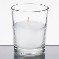 Leola Candle 15 Hour Clear Wax Filled Glass Candle - 48/Case