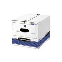 Fellowes 00025 Banker's Box 12 1/4 inch x 15 1/2 inch x 11 inch Extra Strength Letter / Legal File Storage Box with String & Button Closure   - 12/Case