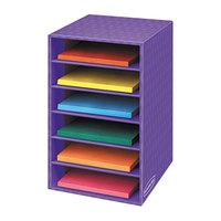Fellowes 3381201 Purple 6-Shelf Vertical Classroom Organizer - 11 7/8 inch x 13 1/4 inch x 18 inch
