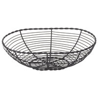 Clipper Mill by GET WB-702 10 inch x 7 inch Black Powder Coated Iron Oval Braided Wire Basket