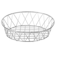 Clipper Mill by GET IR-905 Gray Powder Coated Iron Wire Round Basket - 12 inch x 3 inch
