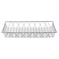 Clipper Mill by GET IR-903 Gray Powder Coated Iron Wire Pastry Basket - 18 inch x 12 inch x 2 inch