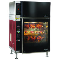 Alto-Shaam AR-7EVH-SGLPANE Single Pane Flat Glass Rotisserie Oven with 7 Spits and Ventless Hood - 240V, 3 Phase