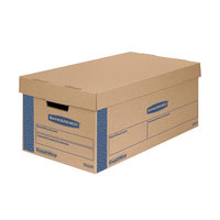 Banker's Box 7718201 SmoothMove Classic 21 inch x 17 inch x 17 inch Kraft / Blue Large Moving Box   - 5/Case