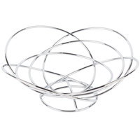 Clipper Mill by GET WB-714 8 1/2 inch Chrome Plated Iron Intercircle Wire Basket with Base