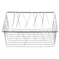 Clipper Mill by GET WB-106C Chrome Plated Iron Square Wire Basket - 12 inch x 12 inch x 4 inch