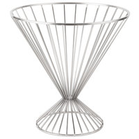 Clipper Mill by GET IRB-103C 15 inch Chrome Plated Iron Round Wire Basket with Base