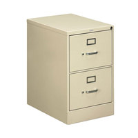 HON 512CPL 510 Series Putty Full-Suspension Two-Drawer Filing Cabinet - 18 1/4 inch x 25 inch x 29 inch