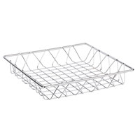 Clipper Mill by GET WB-104C Chrome Plated Iron Square Wire Basket - 12 inch x 12 inch x 2 inch