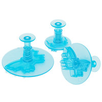 Ateco 1965 3-Piece Blue Plastic Butterfly Plunger Cutter Set (August Thomsen)