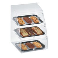 Vollrath MBC1014-3F-06 Medium Classic 3 Tray Acrylic Bakery Display Case with Front Doors - 14 1/2 inch x 17 inch x 21 inch