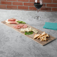 Thunder Group SB520S 20 3/4 inch x 6 1/4 inch Sequoia Faux Wood Melamine Serving Board