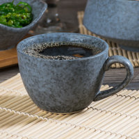 10 Strawberry Street BISEKI-9C Biseki 7 oz. Blue Stoneware Cup - 36/Case