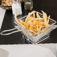 5 inch Square Stainless Steel Fry Basket