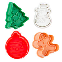 Ateco 1993 4-Piece Plastic Christmas Plunger Cutter Set (August Thomsen)