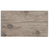 Thunder Group SB514S 14 3/4 inch x 8 1/4 inch Sequoia Faux Wood Melamine Serving Board