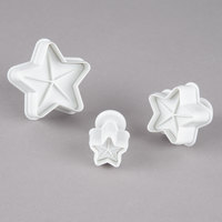 Ateco 1958 3-Piece Plastic Star Plunger Cutter Set