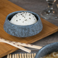 10 Strawberry Street BISEKI-10 Biseki 6 oz. Blue Stoneware Demi Bowl - 24/Case