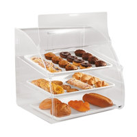 Vollrath ELBC-2 Large 3 Tray Euro Curved Front Acrylic Bakery Display Case with Front and Rear Doors - 29 3/4 inch x 24 1/8 inch x 27 3/4 inch
