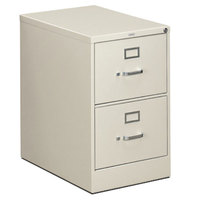 HON 312CPQ 310 Series 18 1/4 inch x 26 1/2 inch x 29 inch Light Gray Two-Drawer Full-Suspension File Cabinet - Legal