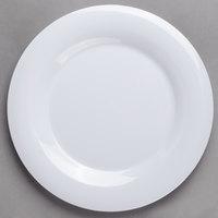 Carlisle 3301002 Sierrus 10 1/2 inch White Wide Rim Melamine Plate - 12/Case