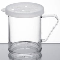 Cambro 96SKRP135 Camwear 10 oz. Polycarbonate Shaker with White Lid for Parsley
