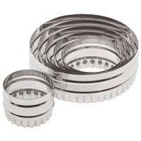 Ateco 14400 6-Piece Stainless Steel Two-Sided Round Cutter Set (August Thomsen)