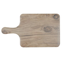 Thunder Group SB608S 8 1/2 inch x 7 inch Sequoia Faux Wood Melamine Serving Board with Handle