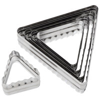 Ateco 52560 6-Piece Stainless Steel Double-Sided Triangle Cutter Set (August Thomsen)