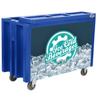 IRP Blue Arctic 720 Mobile 288 Qt. Cooler with Casters