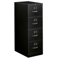 HON 314CPS 310 Series 18 1/4 inch x 26 1/2 inch x 52 inch Charcoal Four-Drawer Full-Suspension File Cabinet - Legal