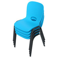 Lifetime 80472 Blue Stacking Children's Chair   - 4/Pack