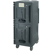 Cambro CMBPH615 Charcoal Gray Electric Combo Cart Plus with Standard  - 110V