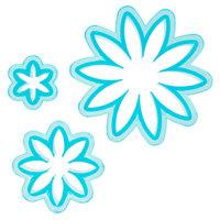 Ateco 1966 3-Piece Blue Plastic Daisy Cutter Set (August Thomsen)