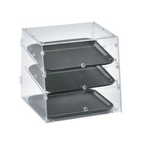 Vollrath KDC1418-3-06 Acrylic Bakery Display Case with Front and Rear Doors - 18 1/2 inch x 18 5/16 inch x 17 1/2 inch