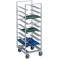 Channel T437A6 36 Tray Bottom Load Aluminum Trapezoidal Cafeteria Tray Rack - Assembled