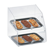 Vollrath SBC1014-2F-06 Small Classic 2 Tray Acrylic Bakery Display Case with Front Doors - 14 1/2 inch x 14 1/4 inch x 15 1/4 inch