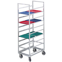 Channel 437S 40 Tray Bottom Load Stainless Steel Cafeteria Tray Rack - Assembled