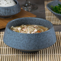 10 Strawberry Street BISEKI-11 Biseki 20 oz. Blue Stoneware Demi Bowl - 12/Case