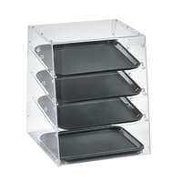Vollrath KDC1418-4R-06 Acrylic Bakery Display Case with Split Rear Doors - 18 1/2 inch x 19 5/8 inch x 22 3/4 inch