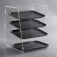 Vollrath KDC1418-4R-06 Acrylic Bakery Display Case with Split Rear Doors - 18 1/2 inch x 19 5/8 inch x 22 3/4 inch