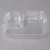 Carnival King Two Compartment Plastic Nacho Tray - 500/Case
