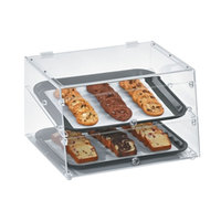 Vollrath KDC1418-2-06 Acrylic Bakery Display Case with Front and Rear Doors - 18 1/2 inch x 16 3/4 inch x 12 inch