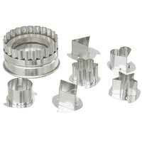 Ateco 4841 7-Piece Stainless Steel Large Linzer Cutter Set (August Thomsen)