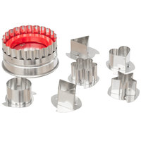 Ateco 4841 7-Piece Stainless Steel Large Linzer Tartlet Cutter Set