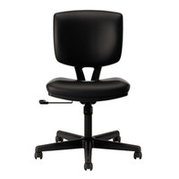 HON 5701SB11T Volt Series Black Leather Task Chair with Casters