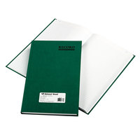 National 56131 Emerald Series 12 1/4 inch x 7 1/4 inch Green Account Book - 300 Pages
